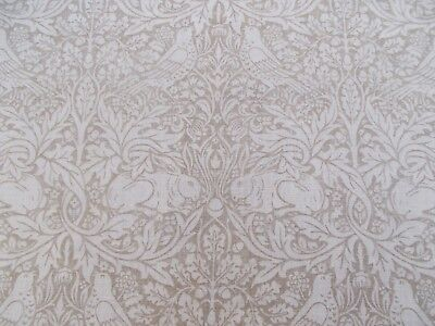 William Morris Curtain Fabric 'PURE BRER RABBIT' 1.6 METRES Flax 100% Linen