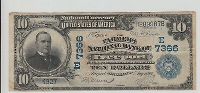 Tough $10 1902 Freeport Pennsylvania National Charter 7366 Plain Back