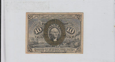 2Nd Issue Fractional 10 Cent