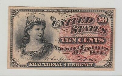 Fourth 4Th  Issue Fractional 10 Cent High Grade
