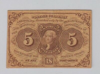 First 1St Issue Fractional 5 Cent Sharp Note