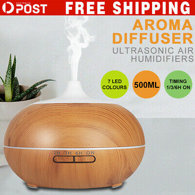 Aromatherapy Diffuser Essential Oil Ultrasonic Aroma LED Purifier Air Humidifier