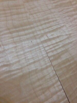 """Curly Flamed Maple Lumber Luthier 14-1/4""""x20"""" Guitar Top Lumber bookmatched"""