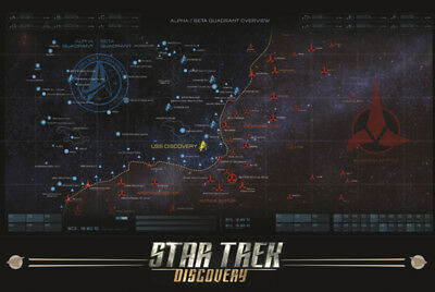 Star Trek Discovery Map Poster 24x36 inch