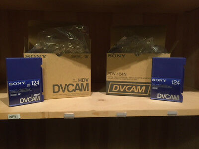 Lot of 19 Sony DVCAM 124 PDV-124N DVCAM Tapes 124 Minutes