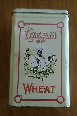 Vintage Cream of Wheat Tin from 1984, Nabisco Reproduction of 1924 Tin