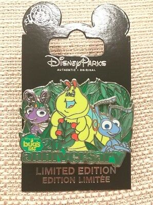 Disney Parks A Bugs Life 20th Anniversary Atta Flik Pin LE 2000 New In Hand