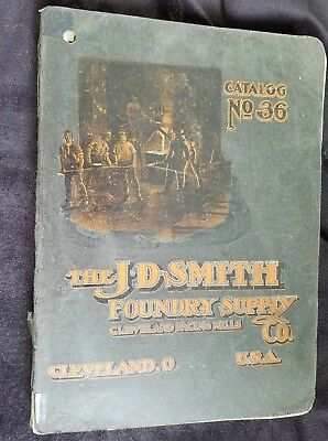 1903 Catalog JD Smith Foundry Supply Cleveland Facings Refiner Iron Barrels