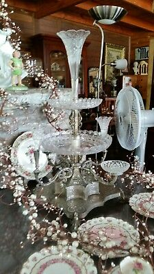 Antique  Silver plated epergne