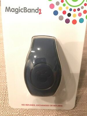 Disney Navy Blue Solid Color Magicband 2 Magic Band New In Hand