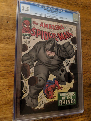 Amazing Spider-Man #41 CGC 3.5 1st Appearence of Rhino! OW-W Stan Lee