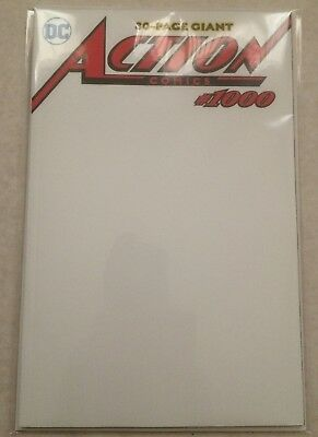 Action Comics #1000 Blank Variant NM