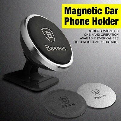 Baseus Universal Magnetic Ball Magnet Car Holder Mount GPS Smart Phone Lot PU