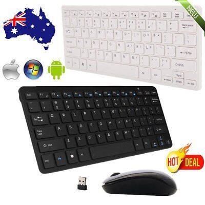 Wireless Keyboard and Cordless Optical Mouse for PC Laptop Win7/8/10 Lot KA