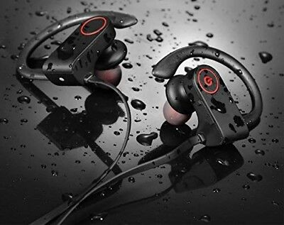 Bluetooth Headphones Best Running Wireless Earbuds - with Mic HD Stereo Sports