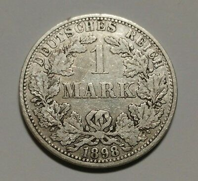 1898 Germany  Mark Silver Foreign Coin Very Nice Coin World Silver Coin
