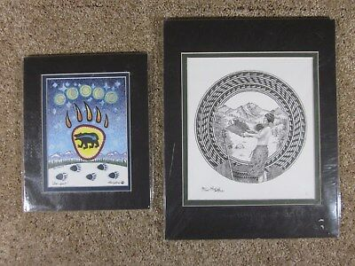 Lot of 2 - Paul Stone - Native American Artist - Limited Prints - Matted