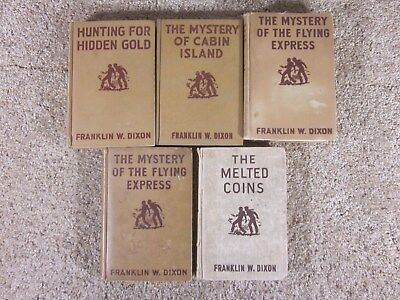 Lot of 5 - Vintage - The Hardy Boys - 1928, 1929, 1941, 1944