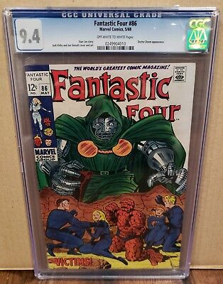 Fantastic Four #86 CGC 9.4 Doctor Doom Appearance Stan Lee Story