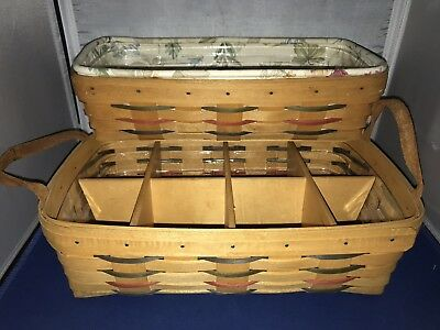 Longaberger Woven Traditions Pantry Basket w/Dividers & Bread Basket Combo