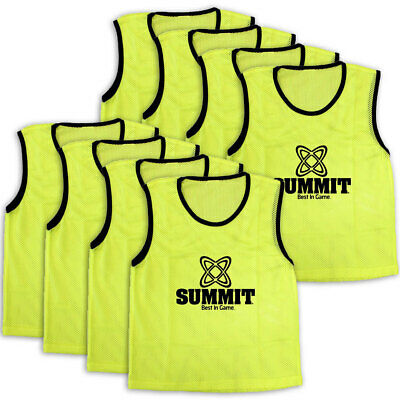 8PK Summit Extra Large Sport/Soccer/Rugby Training Mesh Bibs/T-Shirt Vest Yellow