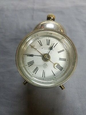 Antique Ansonia BEE Single Bell Alarm Clock Early Patent 1884