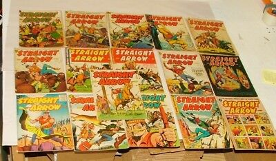 % 1950's Straight Arrow  Comic Book Collection Lot 1-N