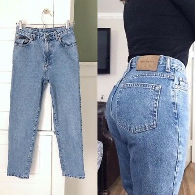 VTG 90s HIGH WAISTED Calvin Klein Straight Tapered Ankle Cropped MoM JEANS 24