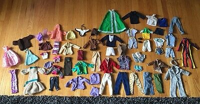 Huge lot Vintage/New/Mod Barbie & Ken Clothes, Some Handmade/Knit/Sewn-see All
