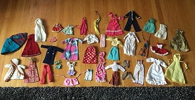 Huge lot Vintage/Mod Barbie Clothes, Some Handmade/Knit/Sewn/repairs Needed