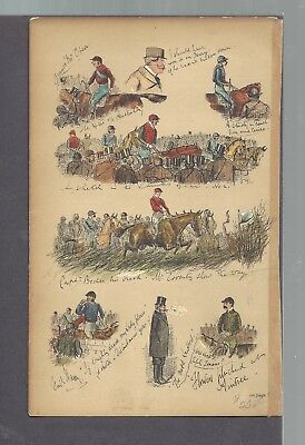 Horse Racing Stable Traders Jockey Saddle  Antique History Apage Out Of A Book