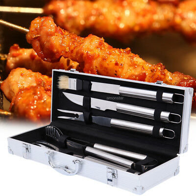 BBQ Grill Tool Set Stainless Steel Tools Barbecue Tools Accessories Case Xmas