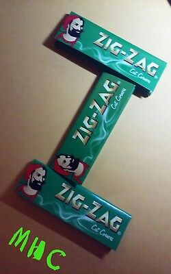3 Books! ZIG-ZAG Green Cut Corners 1.0 Cigarette Rolling Papers! 50 Leaf Books!