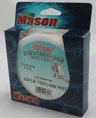 Mason Downrigger Stainless Steel Wire Cable .032 Diameter 150# Test 400 Feet