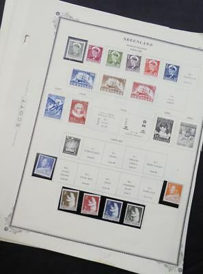 EDW1949SELL : GREENLAND Almost all Very Fine Mint Never Hinged collection on pgs