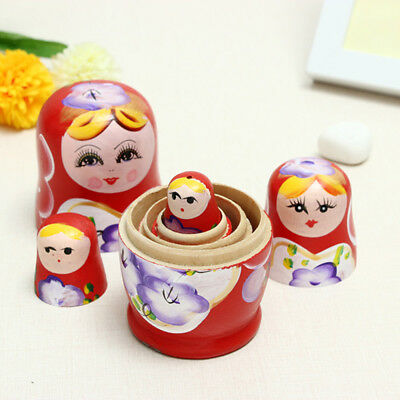 Educational Matryoshka/Babushka Russian Nesting Dolls DIY Hand Painted Toy