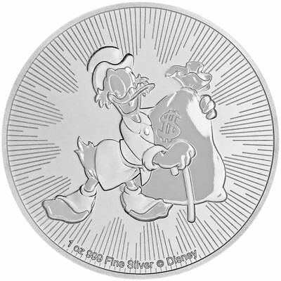 2018 1 oz Niue Disney Scrooge McDuck Silver Coin NEW
