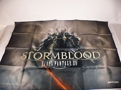 Final Fantasy 14 XIV Stormblood Online Fabric Poster Cloth Wall Scroll