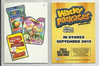 "2013 Wacky Packages: Alle Neuen Series 11 #P1 "" Promo Karte "" Philly Non-Sport"