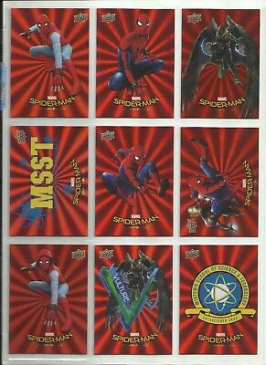 "2017 Wal-Mart Spider-Man: Homecoming Rot Foil "" Parallel Base Karten "" U-Pick"
