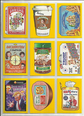 "2017 Wacky Packages: 50. Jubiläum Gelb "" Parallel Base Karten "" U-Pick (B)"