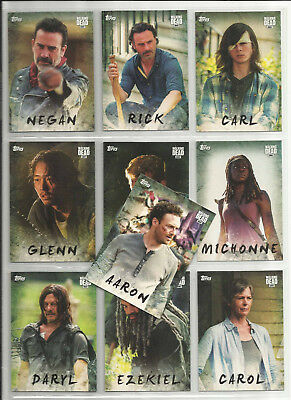 2017 The Walking Dead Season 7 COMPLETE SET of 19 CHARACTER Chase Cards (C1-C19)