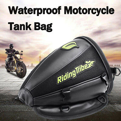 New Motorcycle Tank Bag Oil Helmet Tail Luggage Riding Travel Tool Bags Black