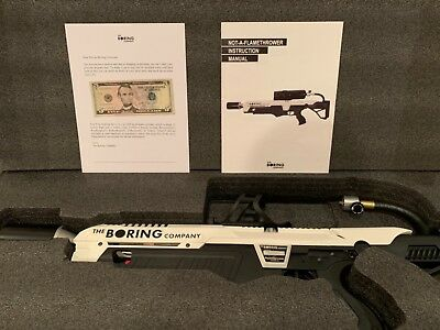 Very Rare Brand New The Boring Company Not A Flamethrower Everything Included