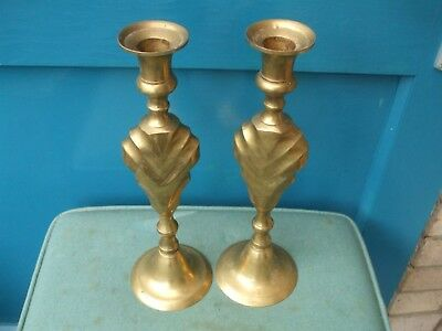 Matching Pair Of Vintage Brass Candlesticks
