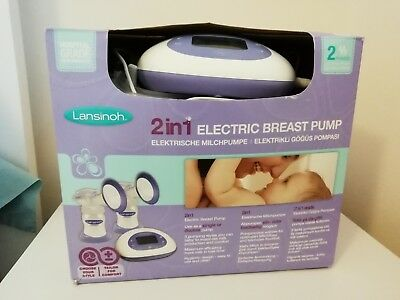 Lansinoh 2 in 1 Electric Double Breast Pump In Box *see added detail
