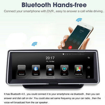 "Android 8"" GPS Sat Navi Navigation HD 1080P Auto DVR Video Recorder Dashcams #"