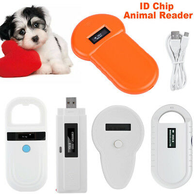 Universal RFID Microchip Handheld Pet Scanner ISO FDX-B Animal Chip ID Reader