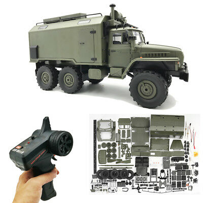 WPL B36 RC Car Kit Remote Control 1/16 6WD 2.4G Military Off-Road Crawler Truck