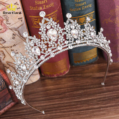 Crystal Tiara Crown Wedding Bridal Hair Accessory Birthday Prom Headpiece